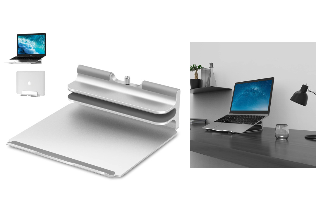 Vertical Laptop Stand - Seenda Adjustable Vertical Stand plus Adjustable Height Stand