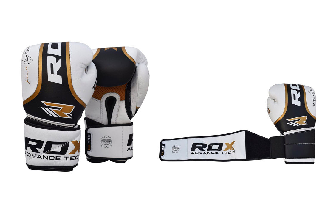 Authentic RDX Cow Hide Leather Ultra Gold Boxing Gloves
