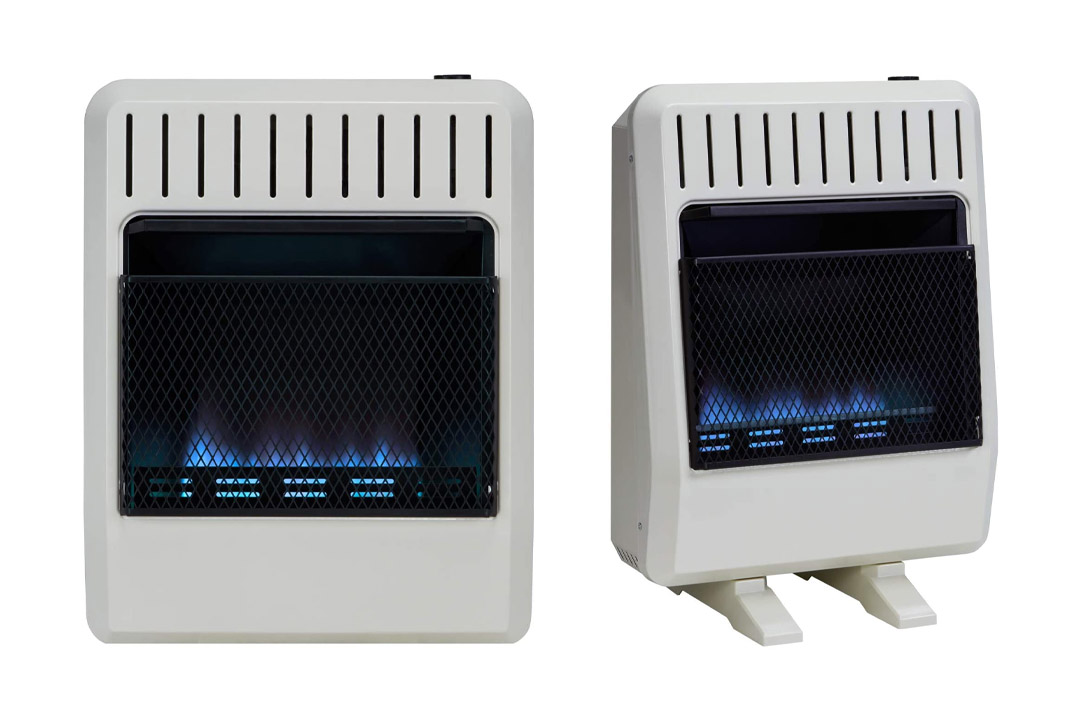 Avenger FDT20BF Dual Fuel Vent-Free Blue Flame Heater, Thermostat, 20,000 BTU