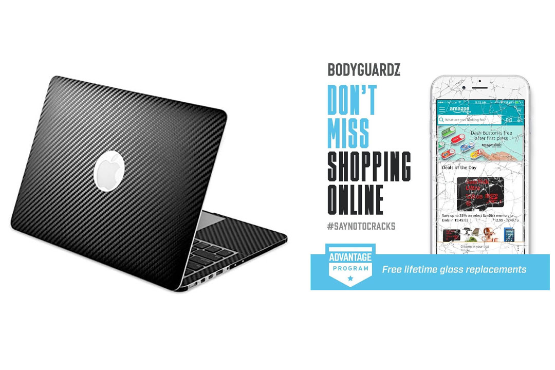 BodyGuardz Armor Carbon Fiber Full Body for Apple MacBook Pro 15-inch with Retina Display