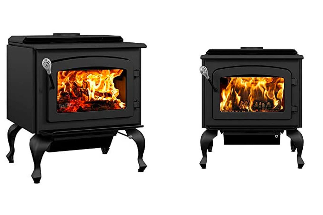 Drolet Escape 1800 Wood Stove on Legs Large 2021 EPA Certified Wood Stove