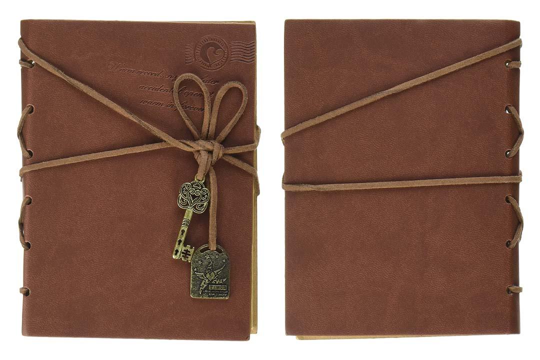 EvZ Diary String Key Retro Vintage Classic Leather Bound Notebook