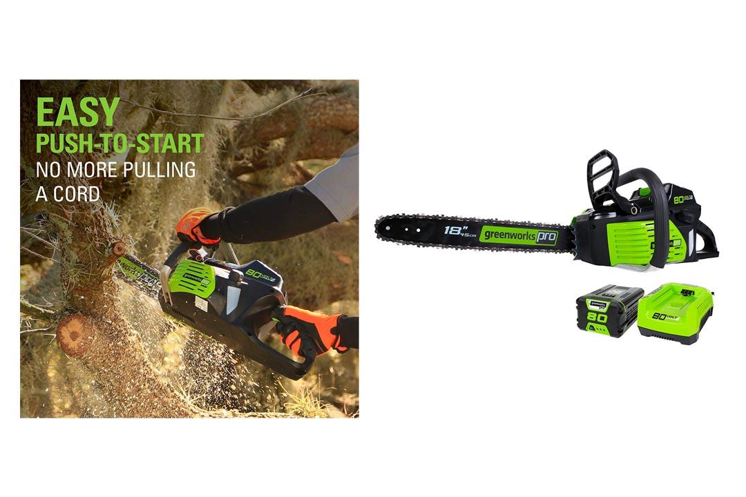 GreenWorks Pro GCS80420 80V Cordless Chainsaw