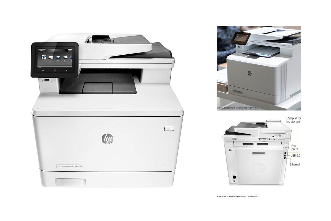 HP Laserjet Pro M477fnw Multifunction Wireless Color Laser Printer with Built-in Ethernet