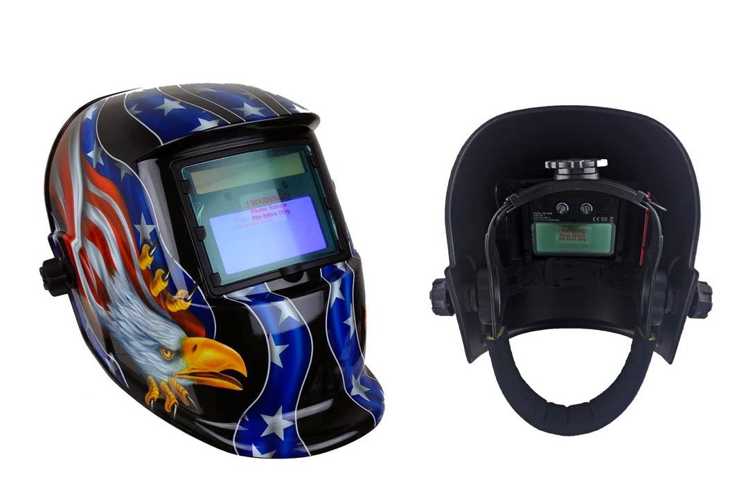 Instapark ADF Series GX-350S Solar Powered Auto Darkening Welding Helmet with Adjustable Shade