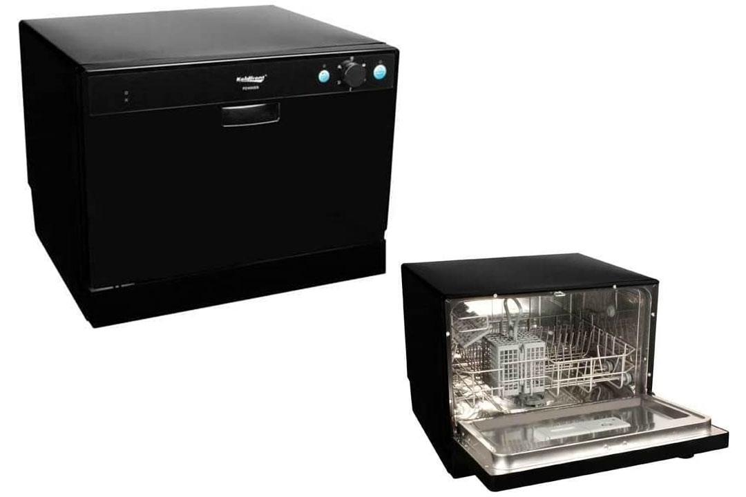 Koldfront PDW60EB 6 Place Setting Portable Countertop Dishwasher - Black