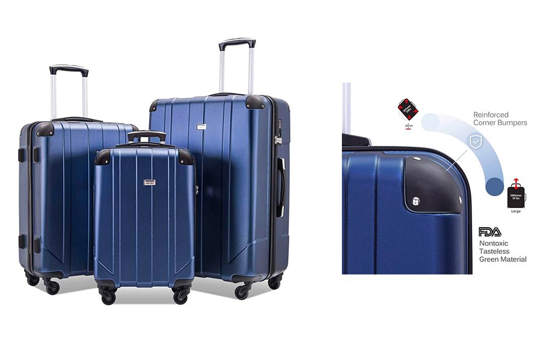 Merax MT Imagine Luggage Set 3 Piece Spinner Suitcase 20 24 28inch