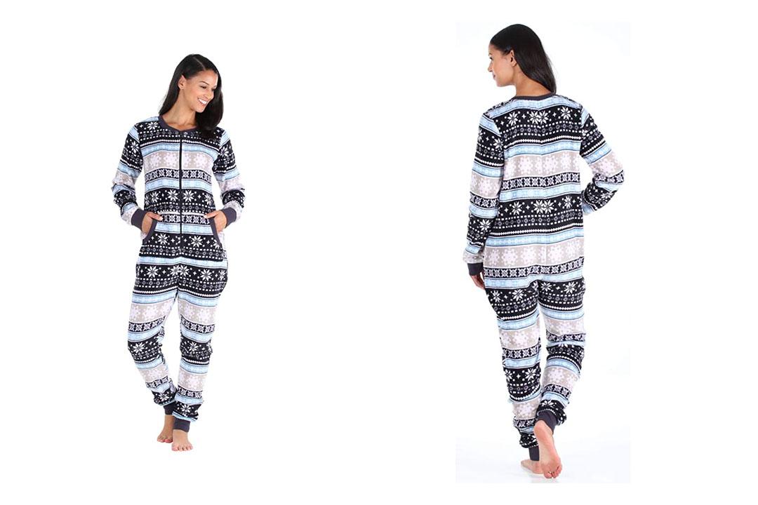 PajamaMania Women's Adult Plush Fleece Non Footed Onesie