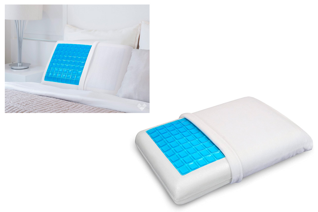 PharMeDoc Memory Foam Pillow with Cooling Gel