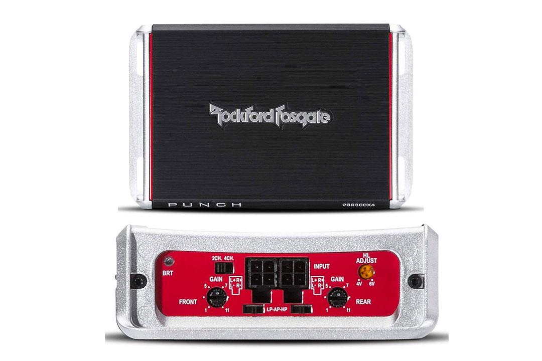 Rockford Fosgate PBR300X4 Punch BRT 300-Watt Ultra-Compact 4-Channel Amplifier