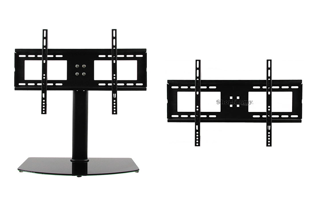 "ShopJimmy Universal TV Stand / Base + Wall Mount for 37"" - 55"" Flat-Screen TVs"