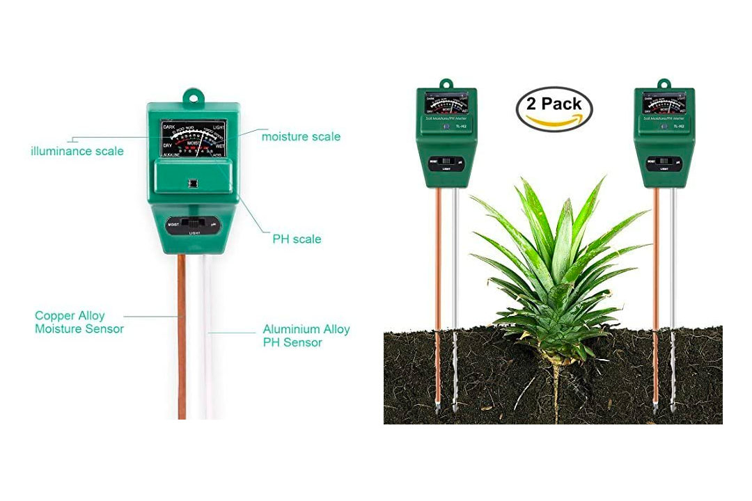 Soil Moisture Meter By Yinat Light and PH / Acidity Meter Plant Tester for Houseplants