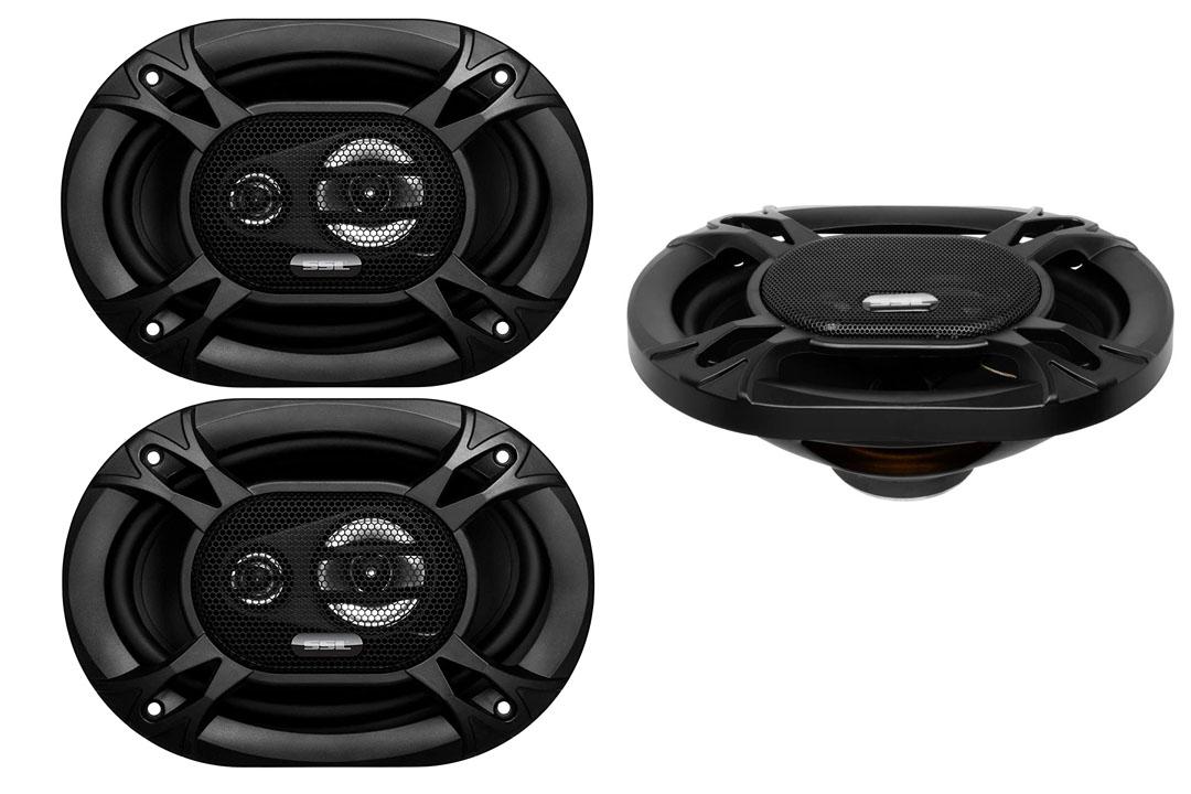 Sound Storm EX369 300 Watt Full Range, 3 Way Car Speakers (Sold in Pairs)