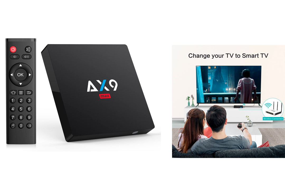 TICTID [2GB/16GB EMMC] AX9 MAX Android 7.1 TV box 4K TV Box