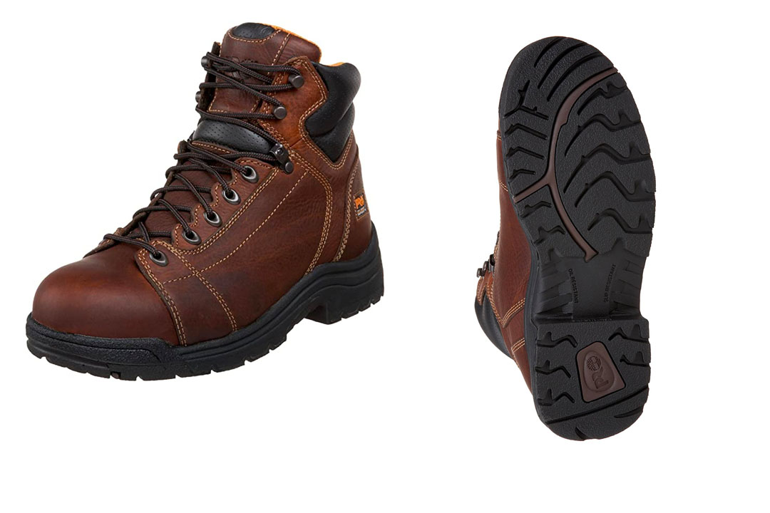 """Timberland Pro Men's Titan 6"""" Lace-to-Toe Safety Toe Boot"""