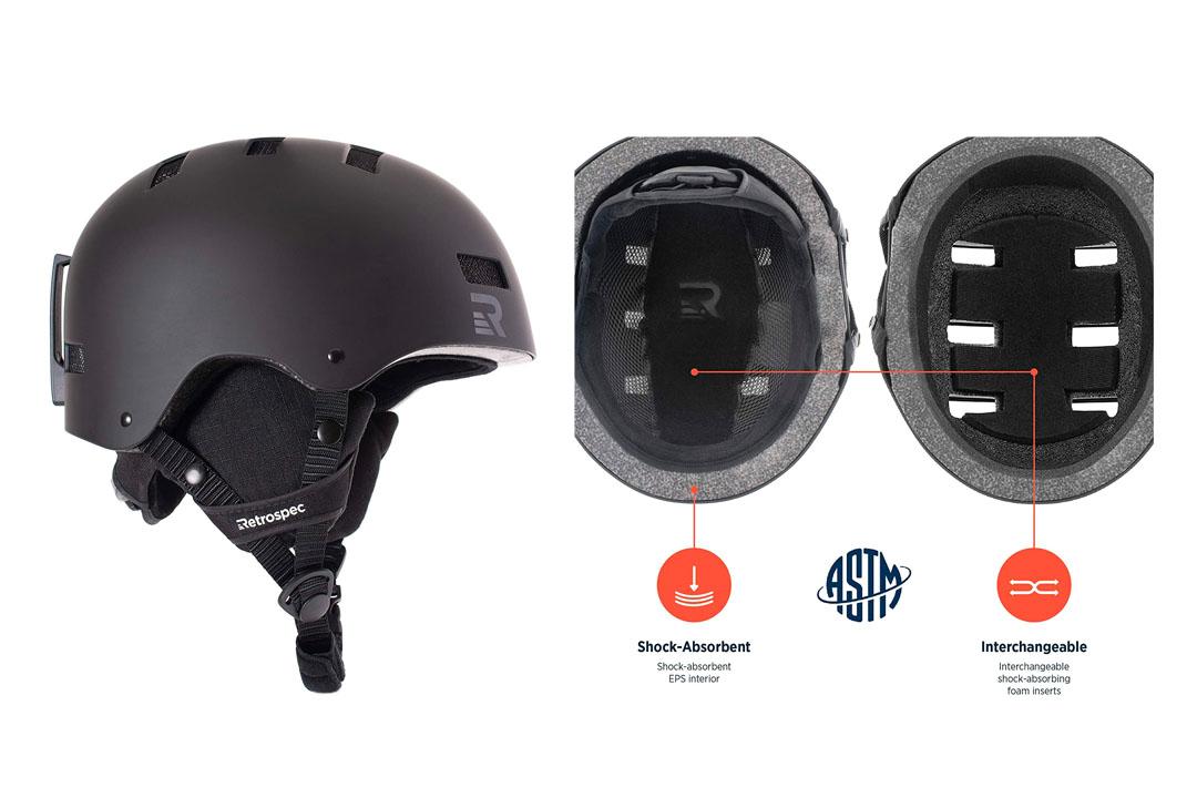 Traverse Dirus 2-in-1 Convertible Ski & Snowboard / Bike & Skate Helmet
