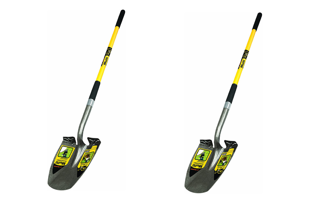 Truper 34073 Multi 2-In-1 Shovel-Edger, 48-Inch Fiberglass Handle, 9-inch Grip