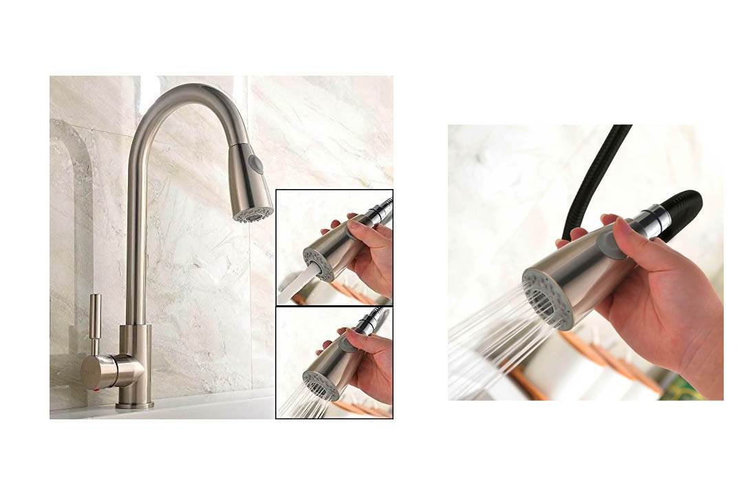 UFaucet Modern Stainless Steel Kitchen Sink Faucet