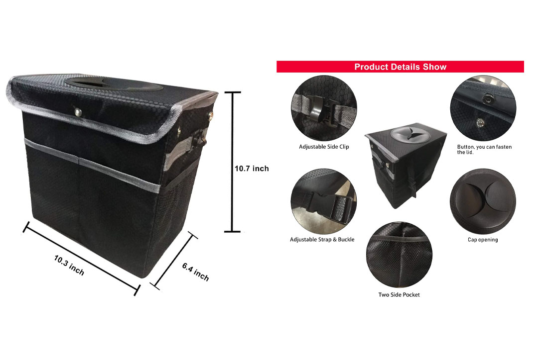 Waterproof Leak Proof Car Organizer and trash can