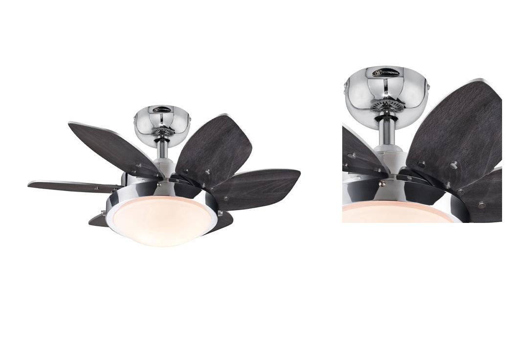 Westinghouse Chrome Six-Blade Ceiling Fan